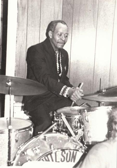 "Drummer at unidentified ""Wilson"" Jam"