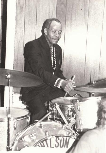 """Drummer at unidentified """"Wilson"""" Jam"""