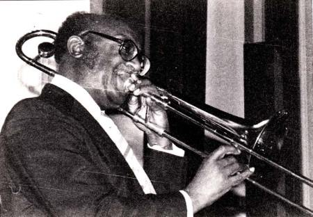Trombonist, probably at unidentified Wilson jam